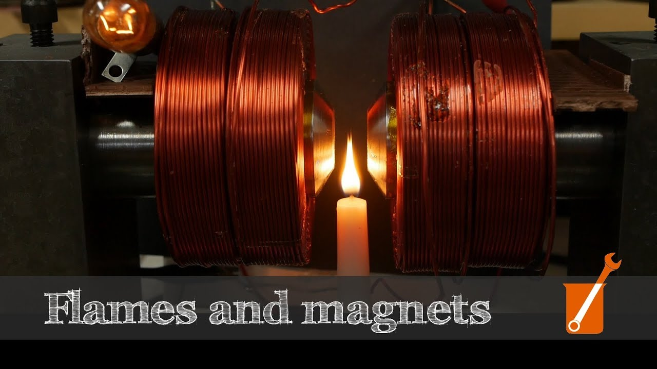 Magnets and flame video